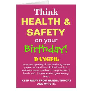 Tarjeta El chiste divertido del cumpleaños de salud y de
