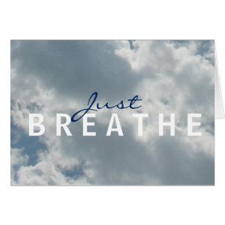 Tarjeta El cielo nublado apenas respira Notecard