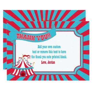 Tarjeta El circo del vintage, tienda del carnaval le