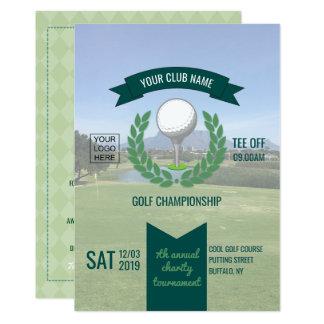 Tarjeta El club/el torneo corporativo del golf añade la