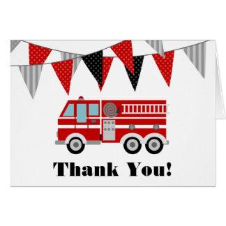 Tarjeta El coche de bomberos le agradece