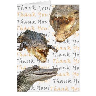 Tarjeta El cocodrilo le agradece cardar