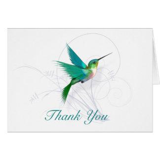 Tarjeta El colibrí le agradece