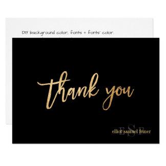 Tarjeta El color/el monograma de PixDezines DIY agradece