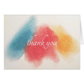 Tarjeta El Color-Gráfico francés le agradece observar