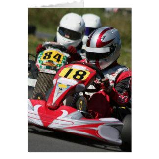 Tarjeta El competir con de la acción del deporte de motor