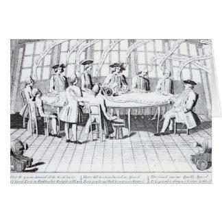 Tarjeta El consejo de la guerra en 1756