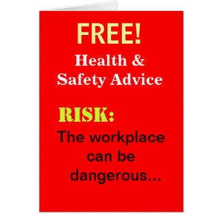 Tarjeta El consejo divertido libre de salud y de seguridad
