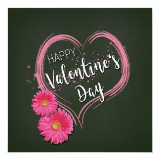 Tarjeta El corazón rosado florece el el día de San