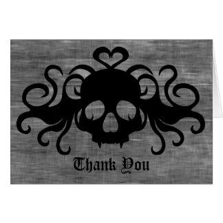 Tarjeta El cráneo fanged gótico del vampiro le agradece