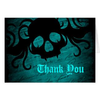 Tarjeta El cráneo gótico de la fantasía le agradece