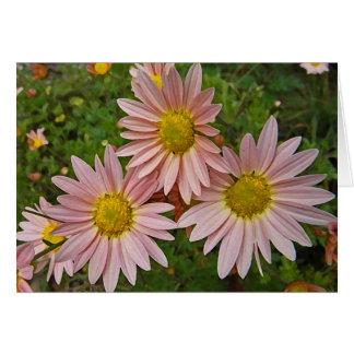 Tarjeta El crisantemo alegre del BA que piensa en usted