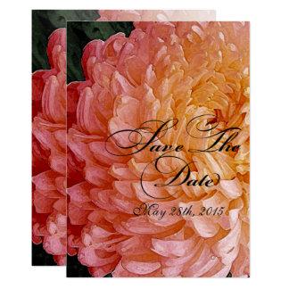 Tarjeta El crisantemo rosado de la acuarela casa reserva