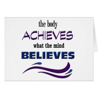 Tarjeta El cuerpo alcanza, mente cree