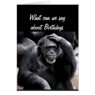 Tarjeta El cumpleaños chupa el saludo divertido con el