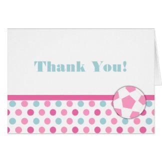 Tarjeta El cumpleaños del chica del fútbol le agradece las