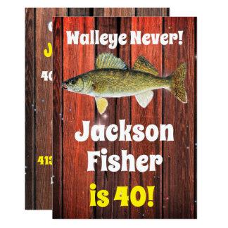 Tarjeta El cumpleaños del pescador divertido de los