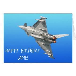 Tarjeta El cumpleaños del tifón de Eurofighter