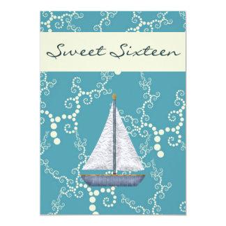 Tarjeta El cumpleaños personalizado del velero del dulce
