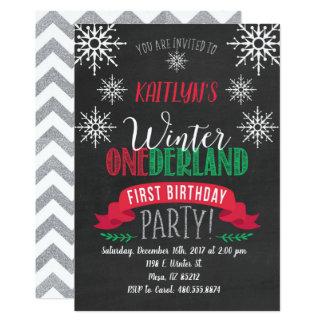 Tarjeta El cumpleaños rojo y verde de ONEderland del