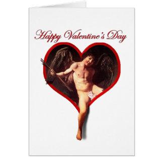 Tarjeta El Cupid de Caravaggio para el el día de San
