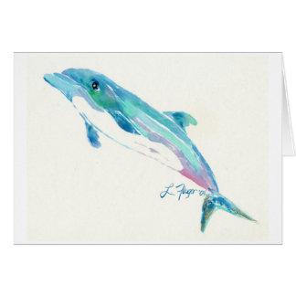 Tarjeta El delfín le agradece cardar