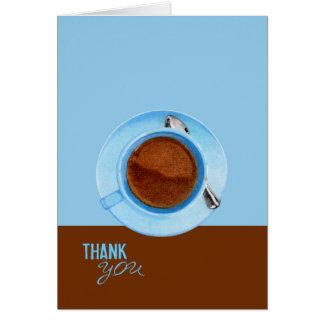 Tarjeta El descanso para tomar café le agradece cardar
