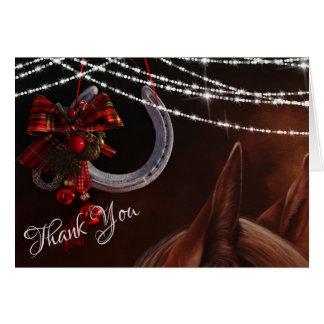 Tarjeta El día de fiesta del navidad del caballo y de la