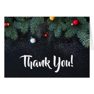 Tarjeta El día de fiesta elegante del navidad le agradece