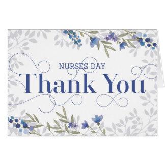 Tarjeta El día de las enfermeras le agradece - texto y las