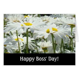 Tarjeta ¡El día de los jefes felices! la margarita blanca
