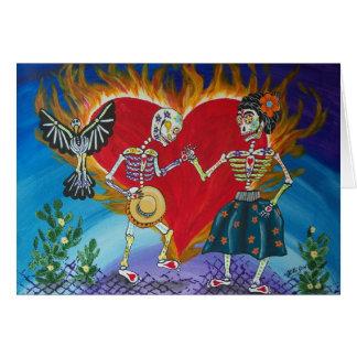 Tarjeta El día de los muertos ahorra la fecha que casan