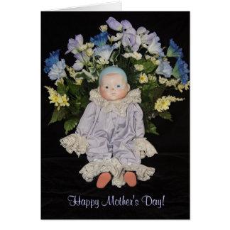 Tarjeta El día de madre alegre del corazón