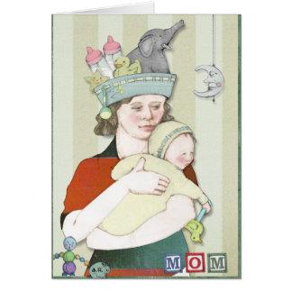 Tarjeta El día de madre (azul)