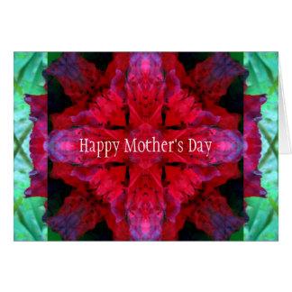 Tarjeta El día de madre carmesí de la travesía