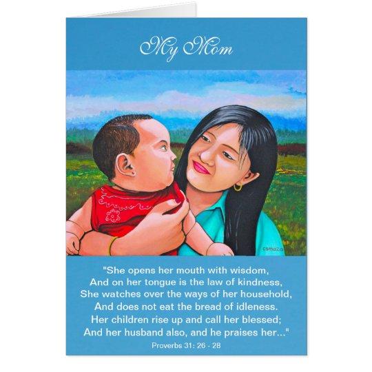Tarjeta El día de madre de la mamá y del bebé Card3 de
