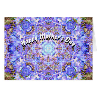 Tarjeta El día de madre de la mandala del jacinto