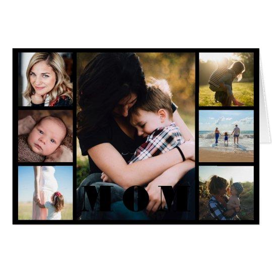 Tarjeta El día de madre del collage de la foto de la mamá
