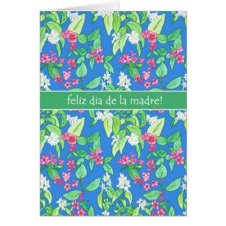 Tarjeta El día de madre español del flor bonito de la