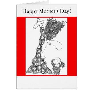 Tarjeta ¡El día de madre feliz!