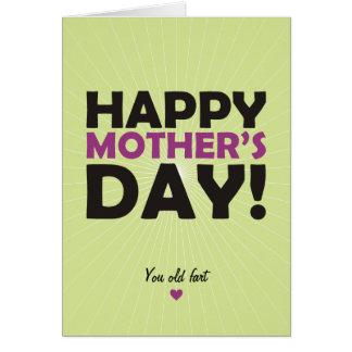 Tarjeta El día de madre feliz