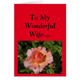 Tarjeta ¡El día de madre feliz a mi esposa!