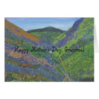 Tarjeta El día de madre feliz, abuela