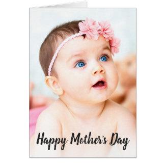 Tarjeta El día de madre feliz de la foto