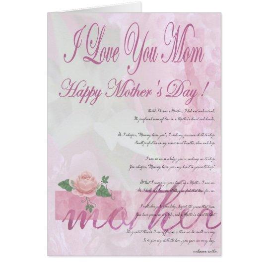 Tarjeta El día de madre feliz de la hija