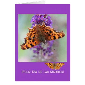Tarjeta El día de madre feliz español