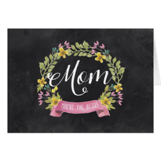 Tarjeta El día de madre floral de la pizarra el |
