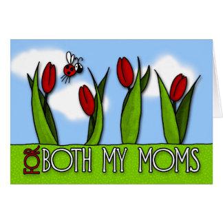 Tarjeta El día de madre - para ambas mis mamáes
