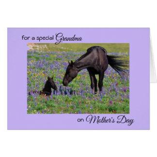 Tarjeta El día de madre para la nota de la foto de la