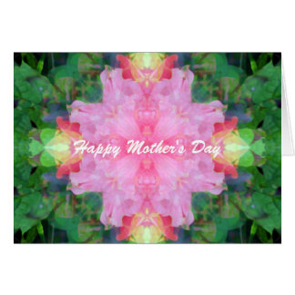 Tarjeta El día de madre rosado de la mandala